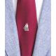 Fregata Partenope in seta bordeaux, Cravatta