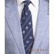 Navi Real Marina Napoletana in seta blu, Cravatta