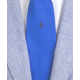 Stemma blu Regno Due Sicilie in seta bluette, Cravatta