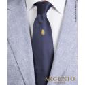 Stemma oro Regno Due Sicilie in seta blu, Cravatta