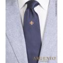 Stemma Sacro Ordine Costantiniano in seta blu, Cravatta