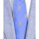 Stemmi oro Regno Due Sicilie in seta azzurra, Cravatta