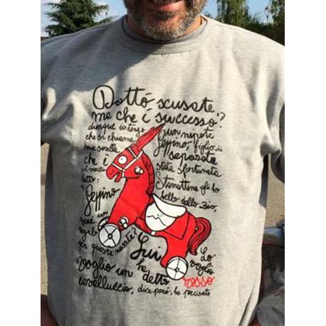Cavalluccio Rosso, Felpa Girocollo