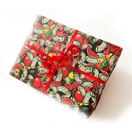1 fogli di Carta regalo con maccheroni