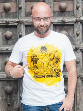 Faccia Gialla the Avenger, T-Shirt Unisex