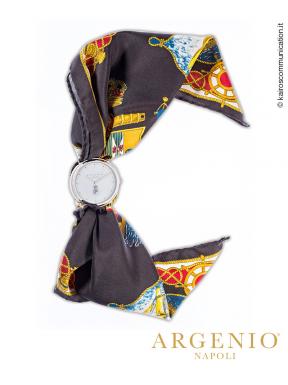 ClassicSlim Foulard – Quadrante Bianco e Pochette in seta