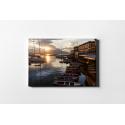 Panorama Napoli Barche, Stampa su tela