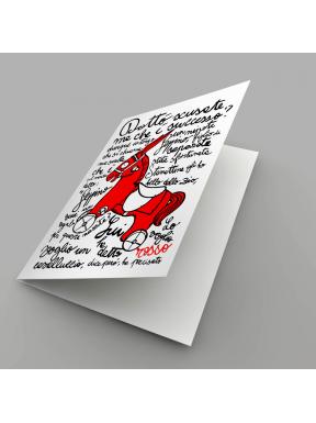 Cavalluccio Rosso, Biglietto d'auguri
