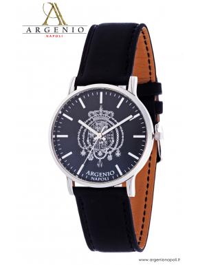 Orologio NewSlim – Quadrante nero e Cinturino in pelle nero