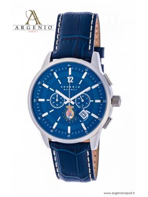 Orologio CronoClassic – Quadrante blu e Cinturino in pelle porpora