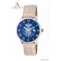 Orologio Classic – Quadrante blu e Cinturino in pelle beige