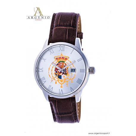 Orologio Classic – Quadrante acciaio e Cinturino in pelle marrone