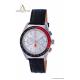 Orologio CronoSport – Quadrante nero/rosso e cinturino in pelle nero