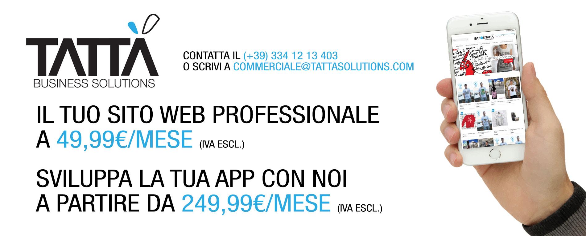 App e Siti Web a partire da 49,99€